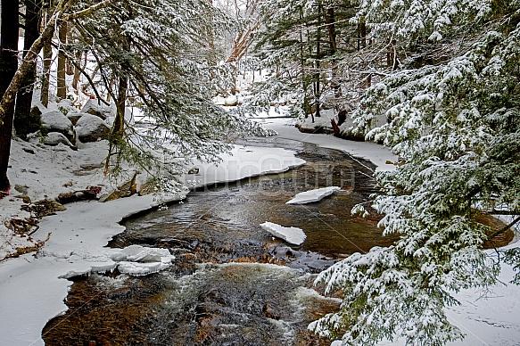 Winding winter river