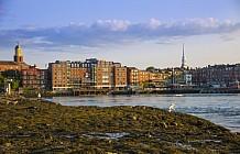 dusk in Portsmouth